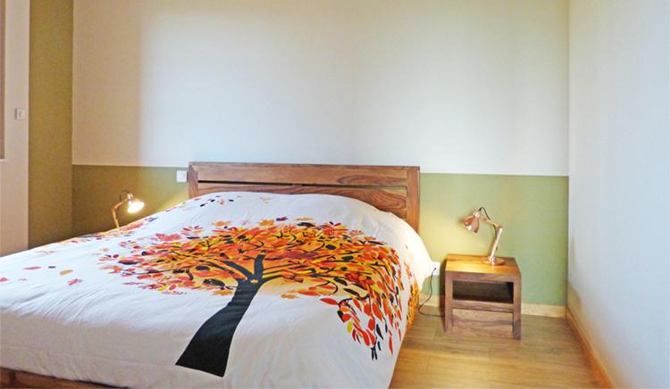 chambre_vert_orange_or rose_pomme